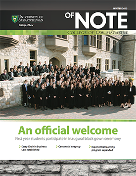 of NOTE - Winter 2013